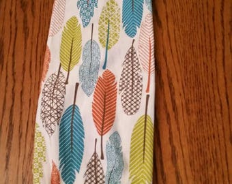 Grocery Bag Holder-  Feathers