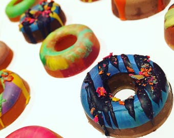 Mini DONUT Crayons - Birthday Party Rainbow Crayon Favor Set - Pick Your Quantity-Recycled Crayons-Donut Party Favor