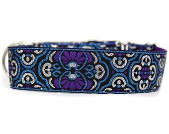 Wide 1 1/2 inch Adjustable Buckle or Martingale Dog Collar in Splendor