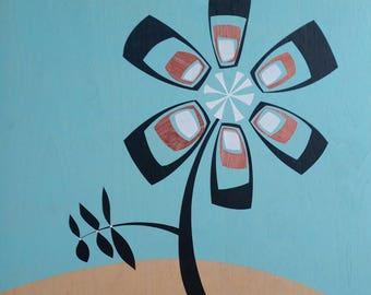 Copper Petals -original painting shipped free!