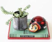 Vintage Tin Ladybug Toy, Kanto Toys, Japan