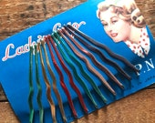 Vintage Bobby Pins - Vintage Hairpins, Vintage Beauty Supplies, Vintage Hair Accessories, Vintage Pin Up Girl, Deadstock, Old Stock, NOS