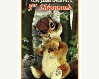 ON SALE Chipmunk Sewing Pattern, Stuffed Animal Pattern, PDF Sewing Pattern, Teddy Bear Pattern, Chipmunk Stuffie, Diy Chipmunk,