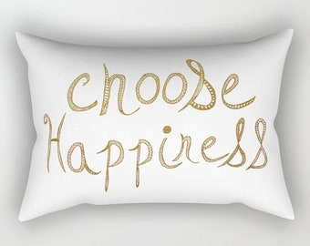 decorative throw pillow-inspiring quote-gold typography-gold and white-minimalist modern design-home decor-oversized rectangular pillow