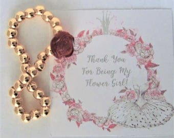 Thank You for Being My Flower Girl Gift, Flower Girl Bracelet, Children's Jewelry, Girls Bracelet, Girls Jewelry, Wedding Jewelry