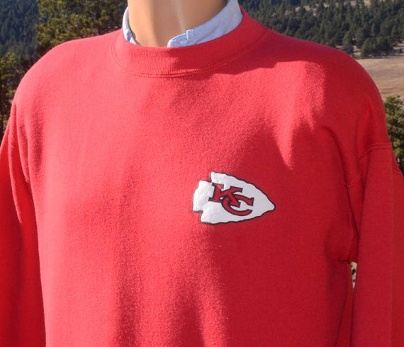vintage 90s sweatshirt kansas city CHIEFS nfl football Medium red