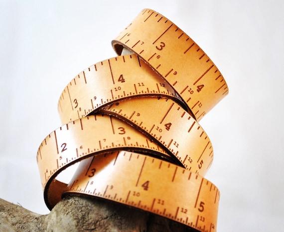 Leather tape measure, tape measure accessory, woodwork, teacher, student, designer, maker, knitter