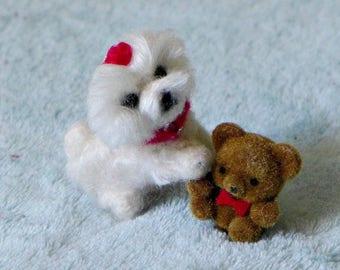 Dollhouse Dog / Custom 1/12 scale Felt Miniature Sculpture  Needle Felted of your pet