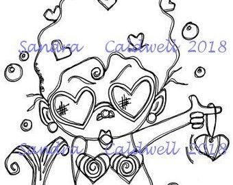 2047 Mermaid at Heart Digi Stamp