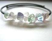 Arc en ciel Fluorite Bracelet, bijoux en Fluorite arc en ciel, artisanaux arc-en-Bracelet manchette en Fluorite