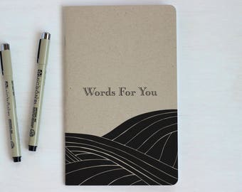 Graduation Gift, Words of Advice, Travel Diary, Anniversary, Traveller's Journal, Drawing Pad, Blank Notebook, River, Wedding, Nature, Field
