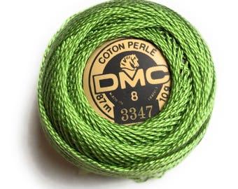 DMC Pearl Cotton Balls Size 8 |3347 Medium Yellow Green