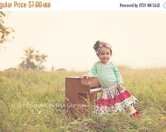 SALE Girls Skirt Pattern with 4 tiers sizes 3m through 16 Ladies PDF Instant
