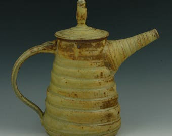 Stoneware, wood fired teapot