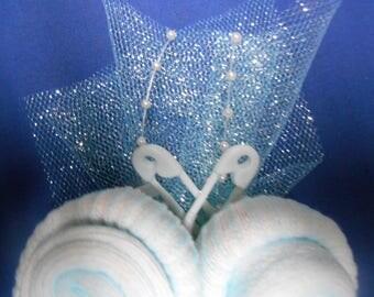 Corsage de douche de bébé faite nouvelles chaussettes Roses filles mère père boutonnière à la main