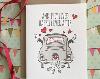 Happily Ever After! (gay wedding) Letterpress Card