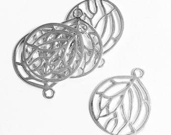 Bulk 60 pcs of Silver plated pendant 27x22mm, Silver teardrop  pendant, bulk alloy silver pendant