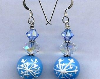 Winter Blues Sterling Silver Earrings