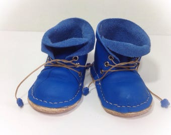 """NEW ..Sasha """"lost boy """" lace up leather  boots"""