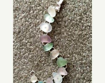 JULY SALES EVENT Sea Glass Bracelet-Gift Idea-Beach Jewelry-Summer Jewelry - Sea Glass Jewelry