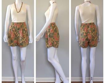 Vintage 90s Gap boxer shorts Floral print shorts fruit print shorts