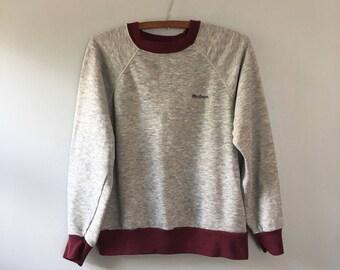 Vintage grey raglan sleeve sweatshirt ringer tee Macgregor sports sweatshirt TRI blend sweatshirt