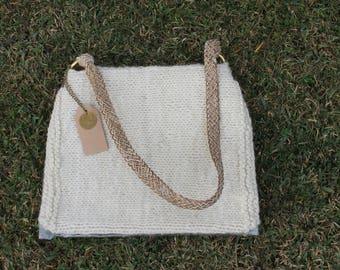 Handbags Wool Leather Unique