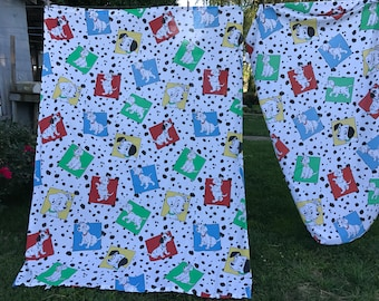 Vintage 1990's Era 101 Dalmatians Twin Flat Sheet and Fitted Sheet