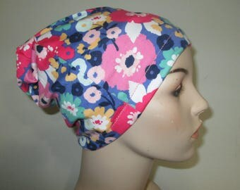Chemo  Beanie  Hat Women's Blooming Flowers Hat Play Sleep Cap, Cancer Hat, Alopecia   Chemo Hat