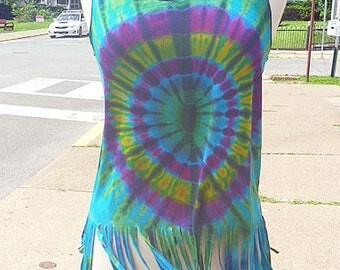 Tie Dye Fringe Tank Top Womens Clothing  Festival Clothes  Hippie Top Boho Teens