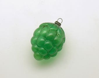 Vintage Christmas Ornament Green Glass Pine Cone Christmas Decoration