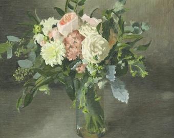 Custom Flower Painting - Wedding Bouquet