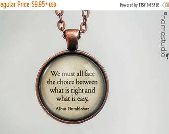 ON SALE - Dumbledore (Right) Quote jewelry. Necklace, Pendant or Keychain Key Ring. Perfect Gift Present. Glass dome metal charm by HomeStud