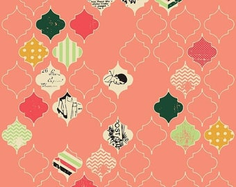 20EXTRA 25% OFF Fancy And Fabulous Loving Life Coral - 1/2 Yard