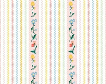"""20EXTRA 20% OFF Penny Rose Fabrics """"Bunnies and Cream"""" Pink Stripe"""