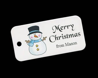 Christmas Tags - Gift Tags - Personalized - Snowman - Candy Tags - Cookie Tags - Bag Tags