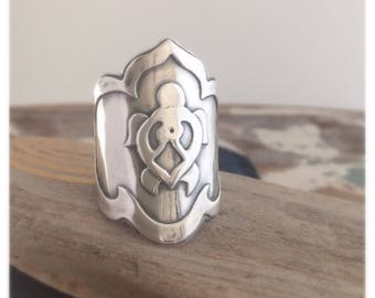Sterling Silver Turtle Saddle Ring - Made To Order