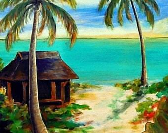 Wall Art - Ocean Art - Seascape Art - Art Print - Bahamas Art - Norman's Cay - Leah Reynolds