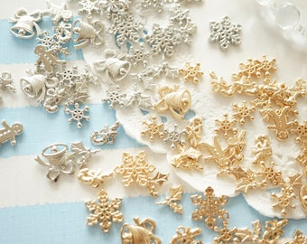 Limited Stock  Resin inclusions / inserts / supplies  (7-12mm) Christmas themed AA065