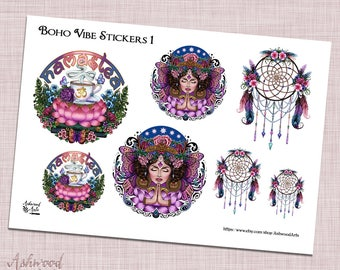 Boho Vibe Stickers  - Pagan Witchy Planner Stickers