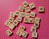 Special listing for Leigh (2) 25 Mini Travel Scrabble letters RANDOM
