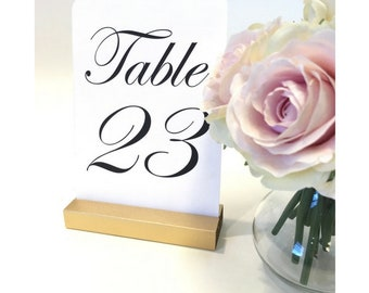 Table Number Holders + Table Number Holder + Wedding Table Number Stand +  Gold Wedding (Set of 10)