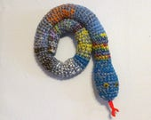 Door Draft Stopper Snake, Door Snake Mixed Colors, Crochet Draft Dodger, Door Draft Snake, Window Sitter, Stuffed Snake, 40 inches