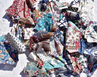 Vintage Feedsack Fabric Scraps 20s 30s Quilt Project for Study or Crafts