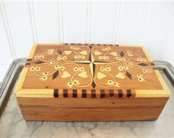 vintage marquetry wood box sorrento style inlay
