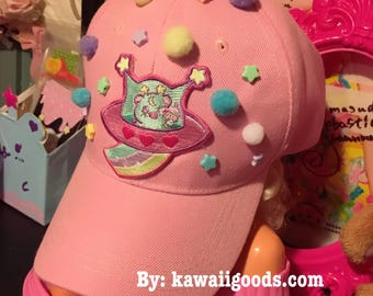 Trixie the space alien UFO Hat, Fairy Kei Hat