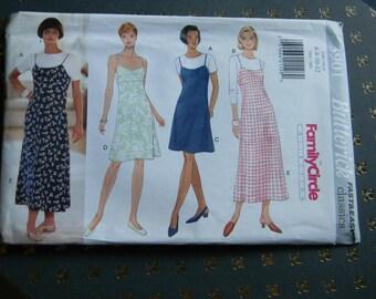 Vintage Butterick Dress, Jumper and Top Pattern #3901, Uncut Multisized