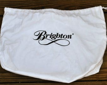 Brighton Dust Bag with White Drawstring