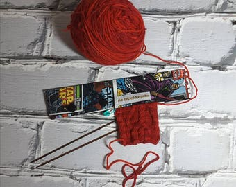 """Star Wars Inspired- Double Point Needle Case, Needle and Hook Holder, DPN Cozy 9"""" TAAT"""