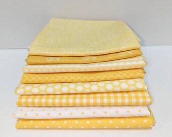 Yellow Fat Quarter Bundle - 8 FQ's